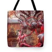 Reindeer At Copenhagen Christmas Market Tote Bag