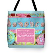 Rejoice And Be Glad Spanish Tote Bag