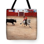 Rejoneador And The Bull, San Miguel De Allende Tote Bag