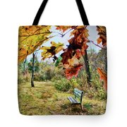 Relax And Watch The Leaves Turn Tote Bag