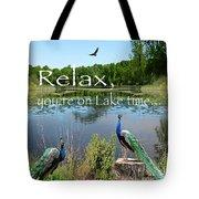Relax Lake Time-jp2737 Tote Bag