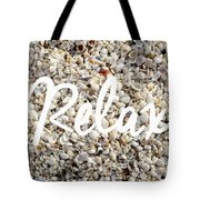 Relax Seashell Background Tote Bag