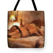 Relax With Me By Mary Bassett Tote Bag