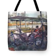 Relaxed Tuk Tuk In Phnom Penh Tote Bag