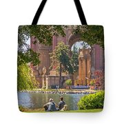 Relaxing At The Palace Tote Bag by Kate Brown
