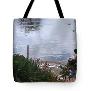 Relaxing By The Lake Tote Bag