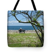 Relaxing By The Shore Tote Bag