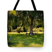 Relaxing In The Shade  Tote Bag