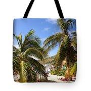 Relaxing On The Beach. Pinel Island Saint Martin Caribbean Tote Bag