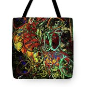 Release Valve Abstract Tote Bag