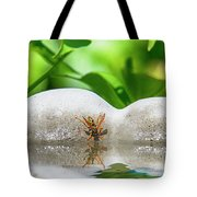 Reflected Little Stinger Taking A Sip 2 By Chris White Tote Bag