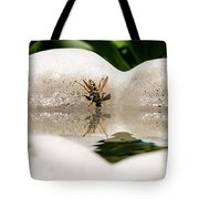 Reflected Little Stinger Taking A Sip By Chris White Tote Bag