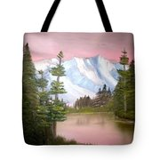 Relections In Pink Tote Bag