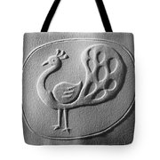 Relief Peacock Tote Bag