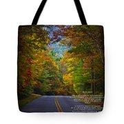 Relief Road  Blue Ridge Parkway Tote Bag by John Haldane