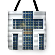 Religion Window Cross Tote Bag