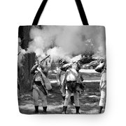 Reliving History-bw Tote Bag