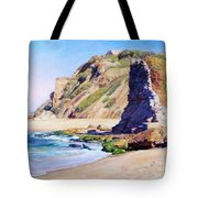 Remains Of Ancient Constructions On Seacoast  Tote Bag