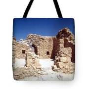 Remains Of The Massada Synagogue Tote Bag