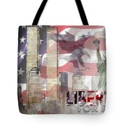 Remembering 9-ll Tote Bag by Arline Wagner