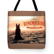 Remembering A Lifetime Tote Bag by Kathy Tarochione