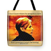 Remembering David Bowie Tote Bag