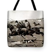 Remington: Native American Village Tote Bag