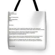 Remix - Letterhead Tote Bag