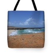 Remote Daimari Beach With Waves Rolling Ashore Tote Bag