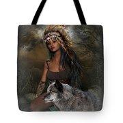 Rena Indian Warrior Princess Tote Bag