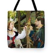 Renaissance Faire With Hen Tote Bag