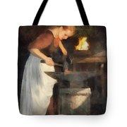 Renaissance Lady Blacksmith Tote Bag