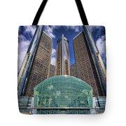 Rencen Detroit Gm Renaissance Center Tote Bag