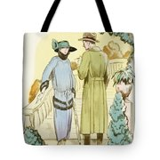 Rendezvous, Outfit And Ulster Overcoat  Tote Bag