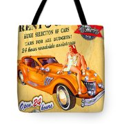 Rent A Car Tote Bag