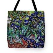 replica of Van Gogh irises Tote Bag