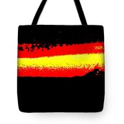 Representational Abstract Sunset Tote Bag by Eric  Schiabor