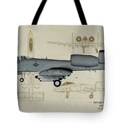 Republic A-10 Thunderbolt II - Profile Art Tote Bag