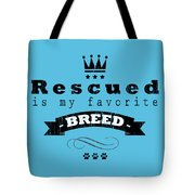 Rescued Crown Dark Tote Bag