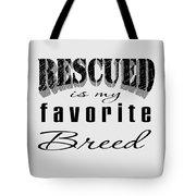 Rescued Pencil Dark Tote Bag