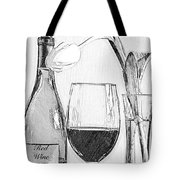 Reserved Table For One In Black And White Tote Bag