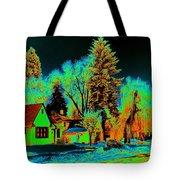 Residential Spokane In Cosmic Winter Tote Bag