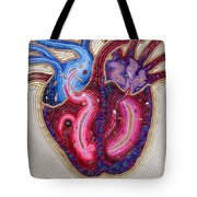 Resilient Heart Tote Bag by Arla Patch