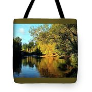 Yamhill River Reflections Tote Bag