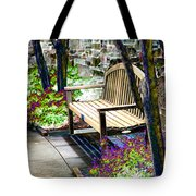 Rest In The Garden Tote Bag