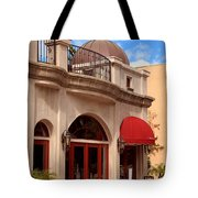 Restaurant In The Plaza Tote Bag