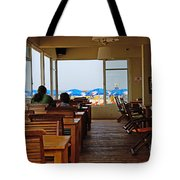 Restaurant On A Beach In Tel Aviv Israel Tote Bag