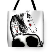 Resting Horse And Cat Tote Bag