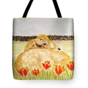 Resting In The Tulips Tote Bag