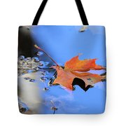 Resting On Gold And Blue Tote Bag